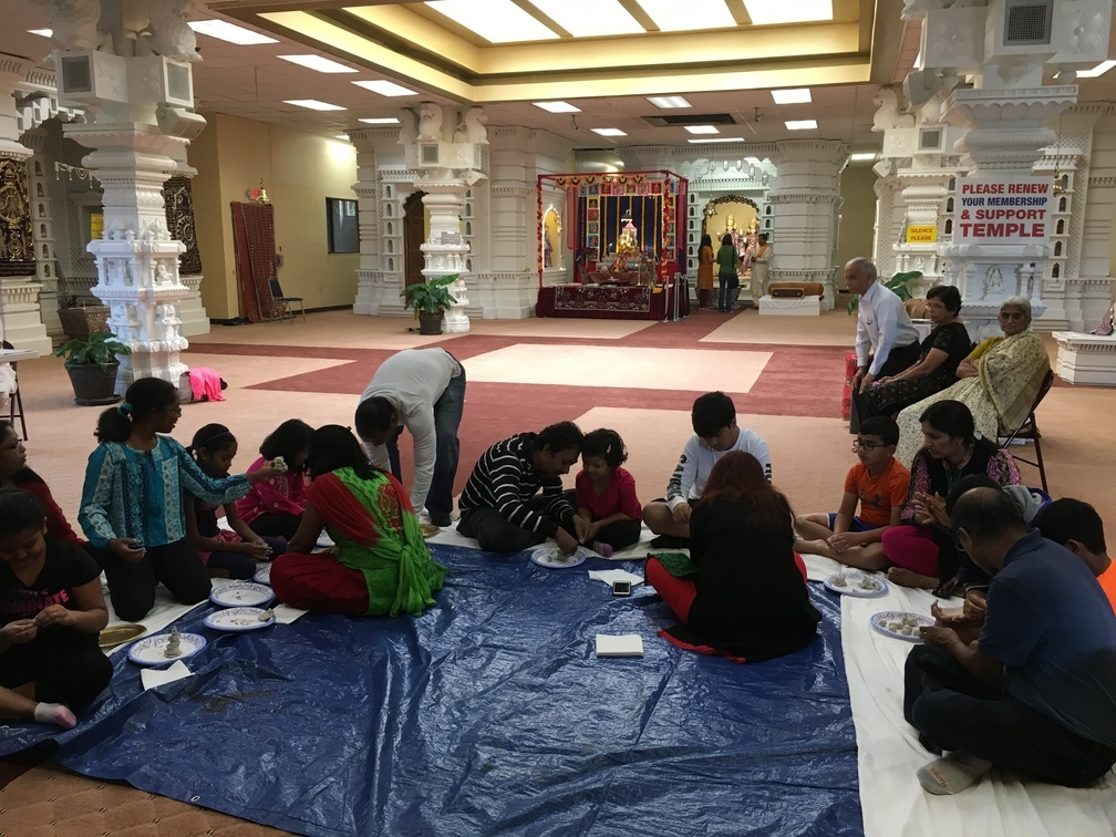 Ganesh Murti Making by kids
